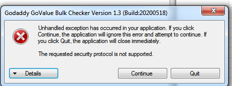How To Fix The Requested Security Protocol Is Not Supported.