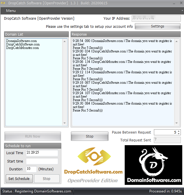 OpenProvider API Dropcatch Software