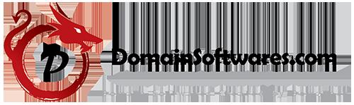 Domain Softwares Logo. (red)