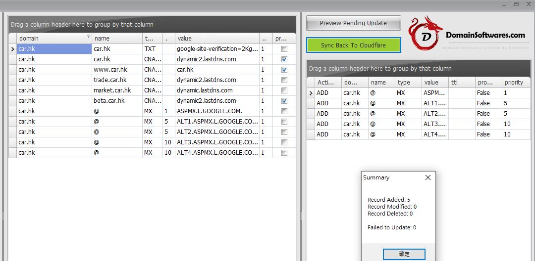 Cloudflare Bulk Add MX Records via Cloudflare API