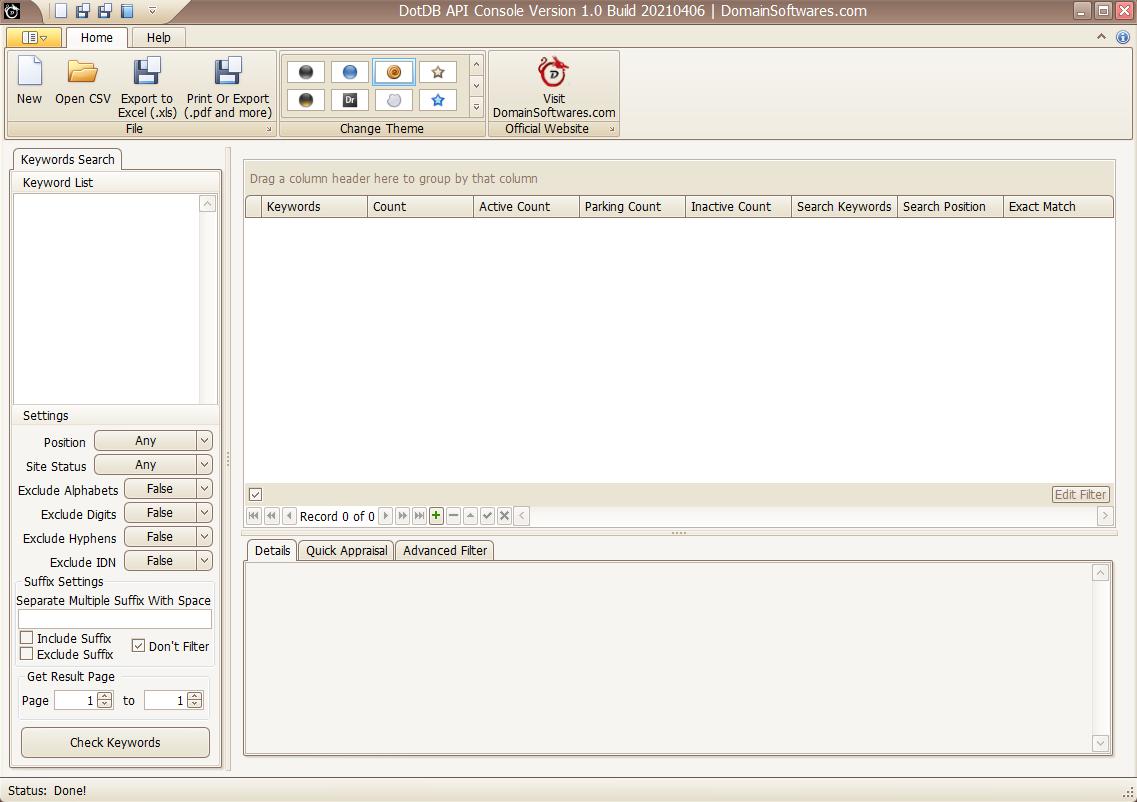 DotDB API Console - Theme