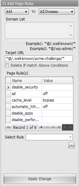 Cloudflare API Console - Bulk Add Page Rules By Copy 2